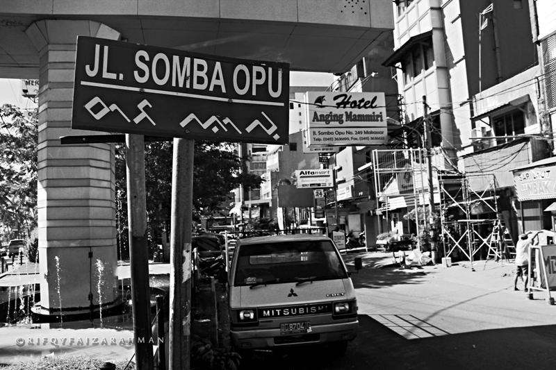 Jalan Somba Opu yang padat pertokoan