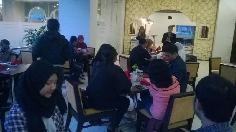 Pembukaan acara buka puasa bersama oleh HRD Coordinator dan GM Secretary Hotel Horison Ultima Malang