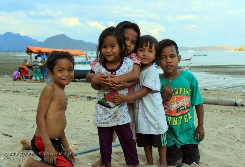 Bocah-bocah Kampung Komodo, Pulau Komodo, Nusa Tenggara Timur