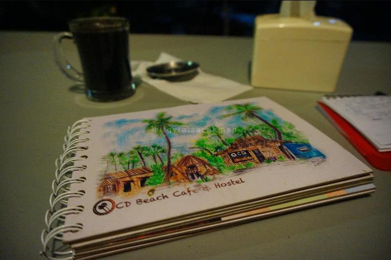 Buku menu bersampul lukisan karya Tayuko