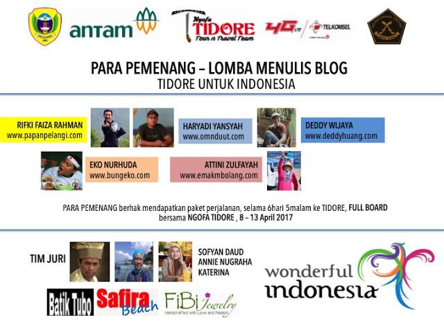 """Lomba Menulis Blog """"Tidore Untuk Indonesia"""""""