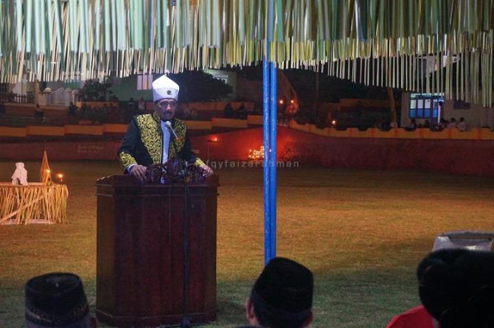 Sambutan Sultan Tidore, Hi. Husain Sjah